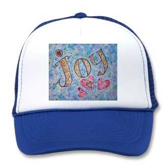 Joy WOrd Art baseball Cap