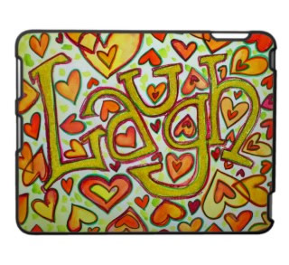 Laugh Art Glitter iPad Fitted Plastic Hard Case