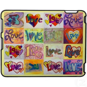 Love Art Words Paintings iPad Hard Fitted Case speckcase