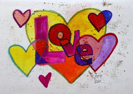 paintings of love hearts