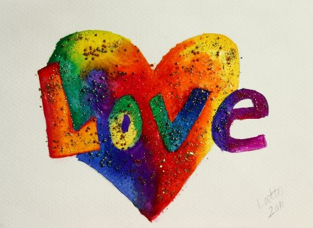 glitter pic and word: