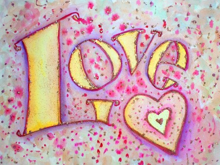 "Inspirational Word Painting ""Love"""