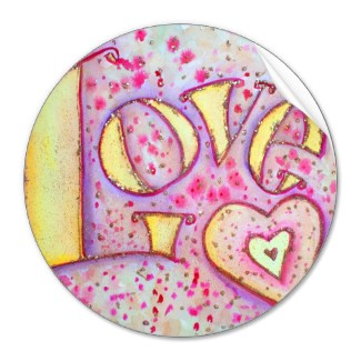 Love Stickers Word Art painting Sticker