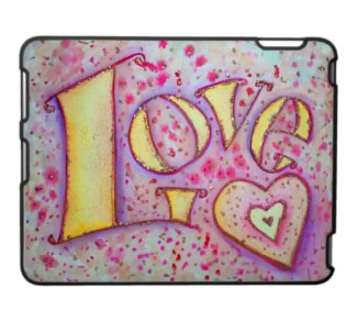 Love Art iPad Case Fitted Hard Plastic