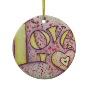 Love Word Art Ornament Painting