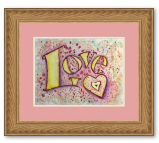 Love Painting Word Framed Poster Art Print