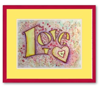 Love Word Painting Art Print Framed Poster