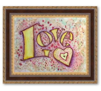 Love Framed Art Poster Print Painting