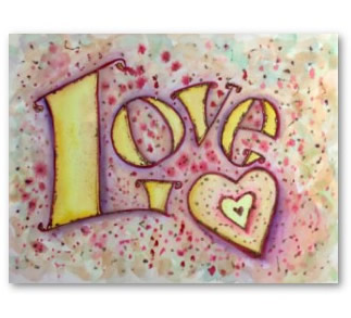 Love Art Word Painting Poster Print
