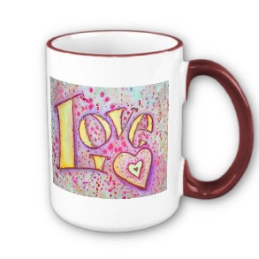 Love Word Art Mug