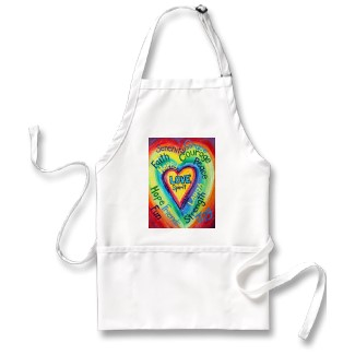 Rainbow Heart Spirit Words Apron