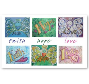 Faith Hope Love Poster Art Print Pictures