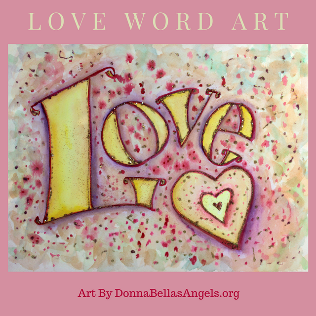 Sweet Pink Love Word Art Painting