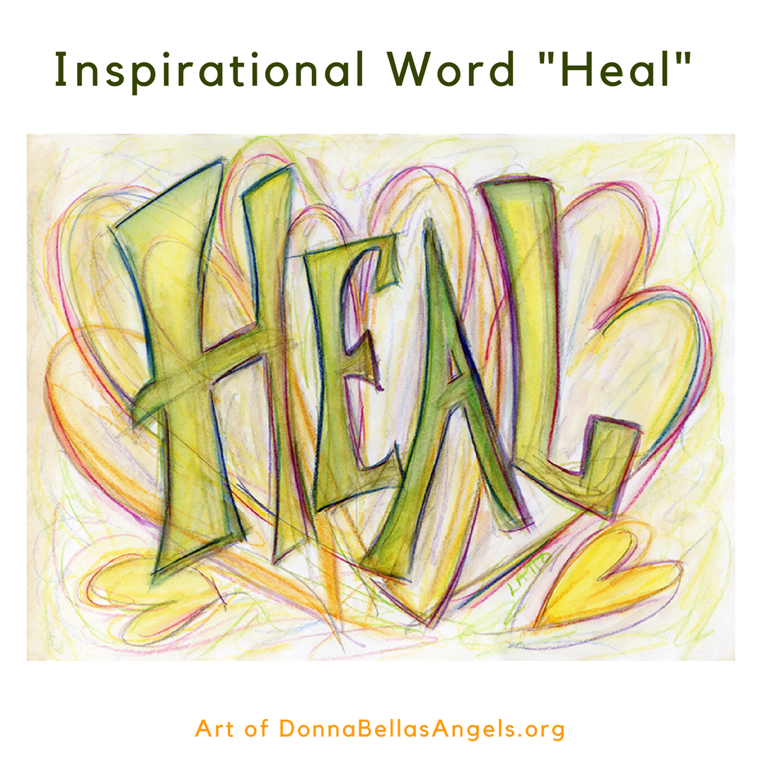 Heal Word Art Inspirational Painting