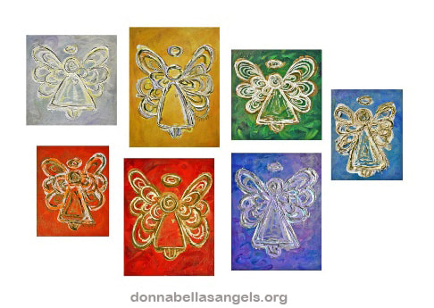 Rainbow Angels Color Series Art Paintings