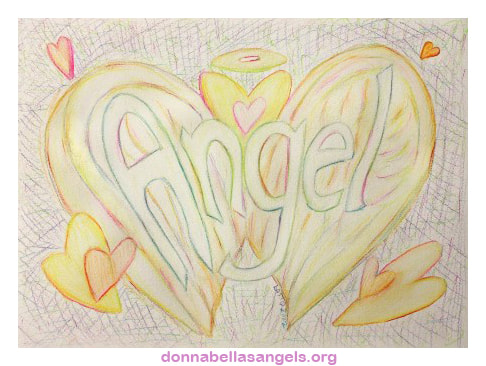 Angel Word Art Inspirational Watercolor Painting