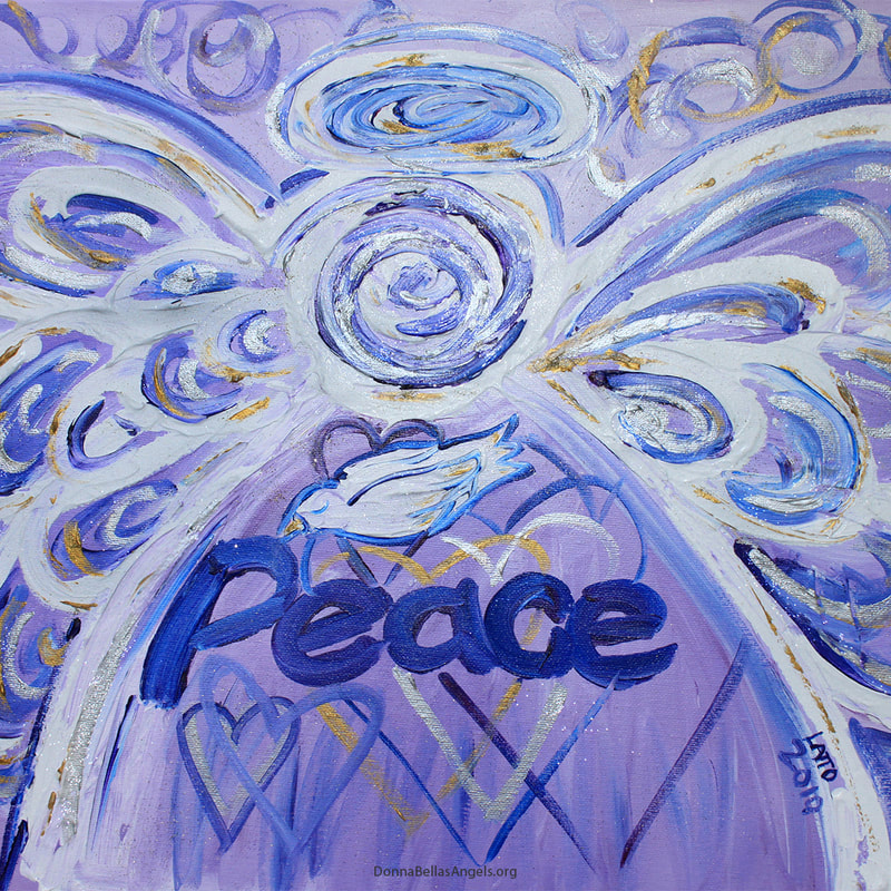 Peace Word Art Guardian Angel Art Painting