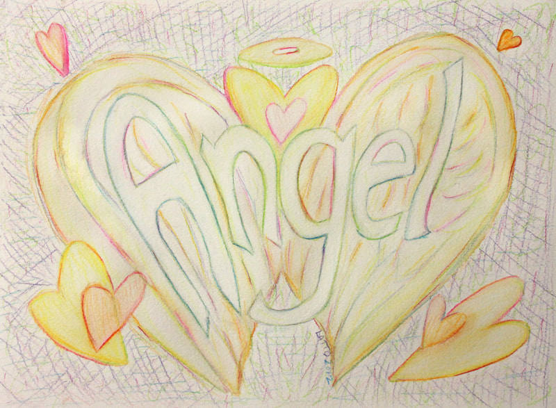 ​Angel Word Art Inspirational Painting