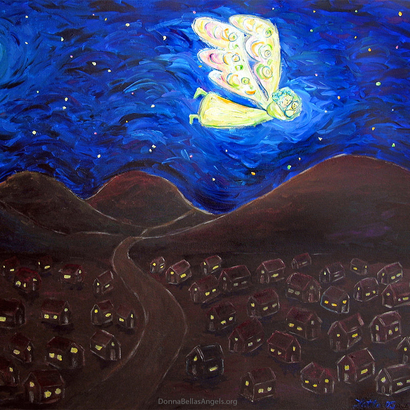 Care of the Soul White Light Guardian Angel Painting