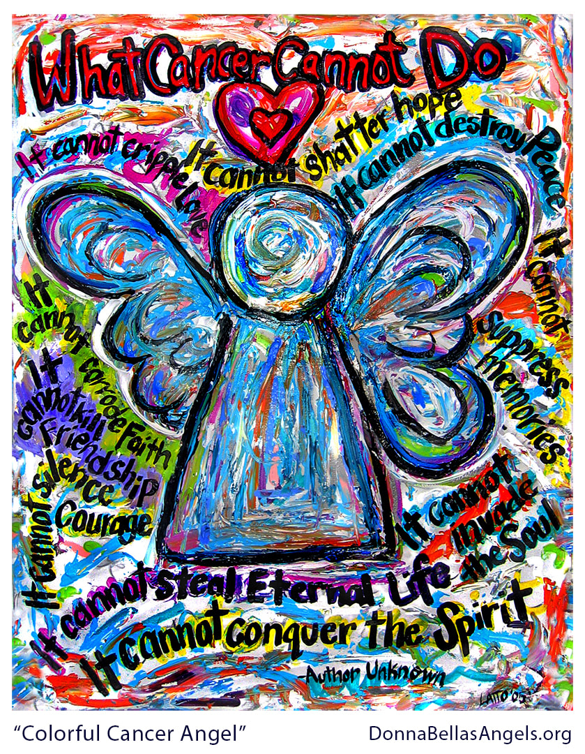 Colorful What Cancer Cannot Do Poem Angel Art Painting Picture