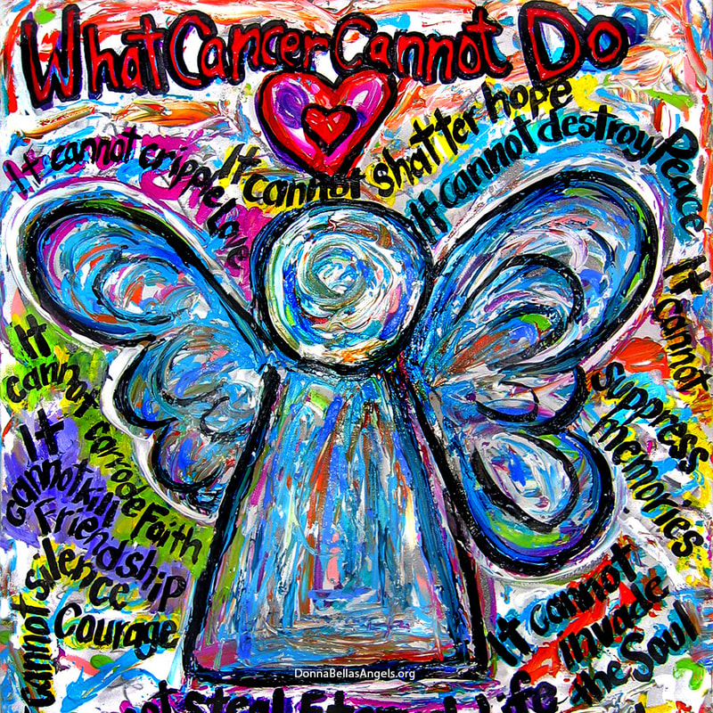 Colorful Angel What Cancer Cannot Do Poem Art Painting