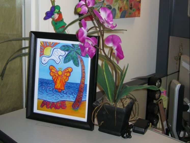 Beach Angel Art Print at Mays Cancer Center in San Antonio, TX Picture