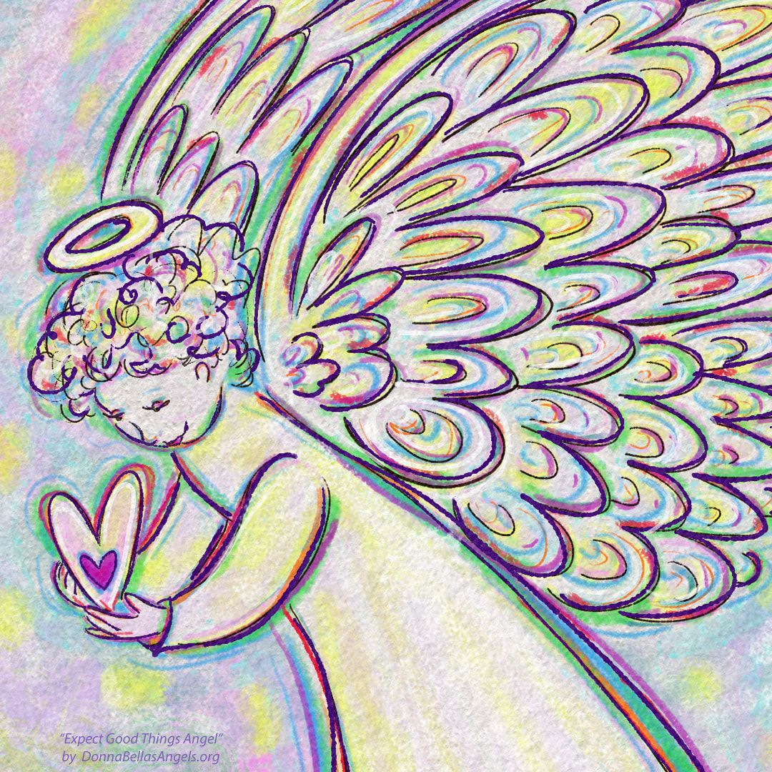 Expect Good Things Guardian Angel Art Painting Picture