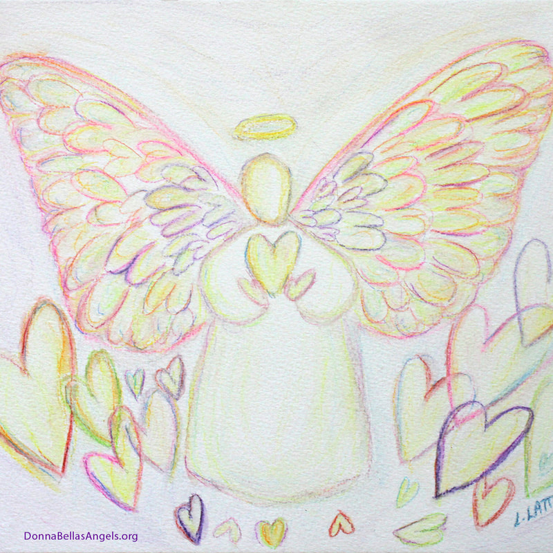 White Light Guardian Angel of Hearts Art Painting