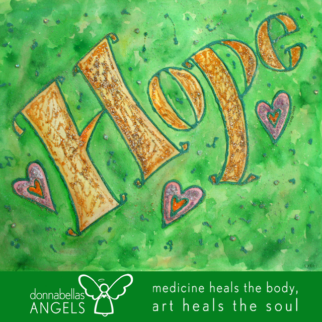 Sparkle Hope Word Art Inspirational Painting