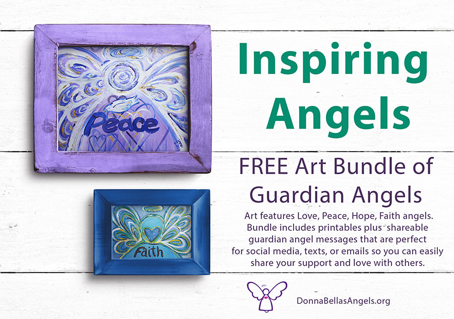 Guardian Angels Word Art Free Bundle