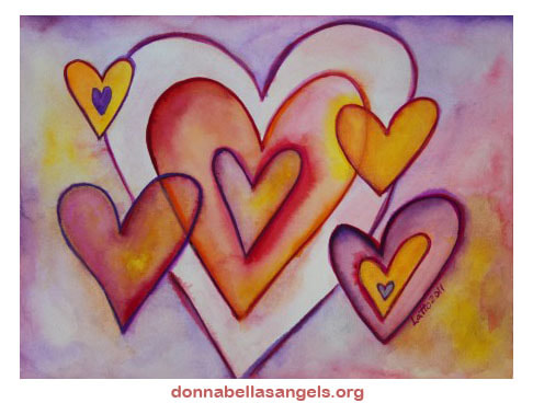 Interlocking Love Hearts Art Painting
