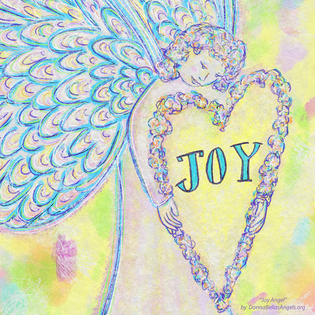 Detail from Joy Guardian Angel Art PaintingPicture