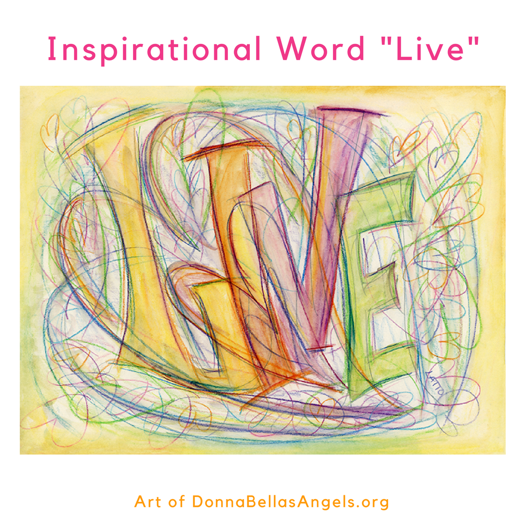 Live Word Art Inspirational Painting