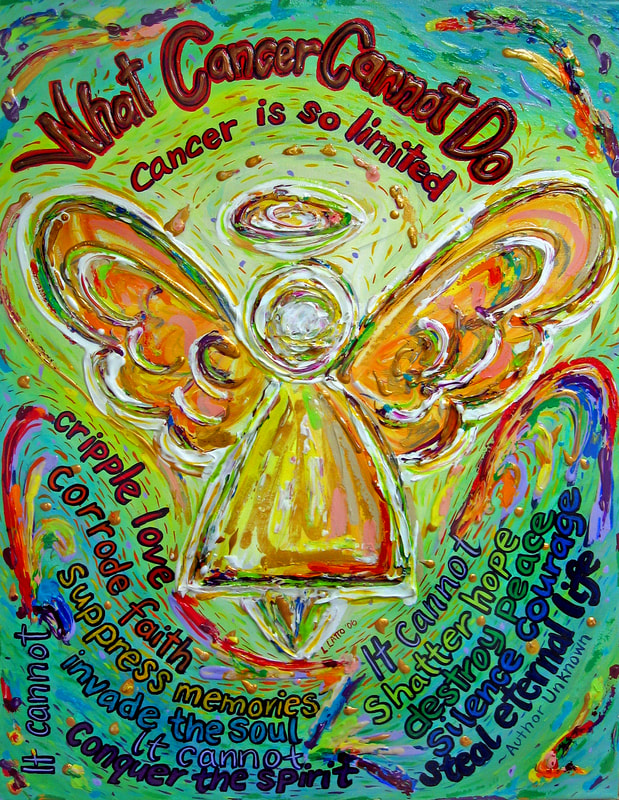 Rainbow Angel What Cancer Cannot Do Poem Art Painting