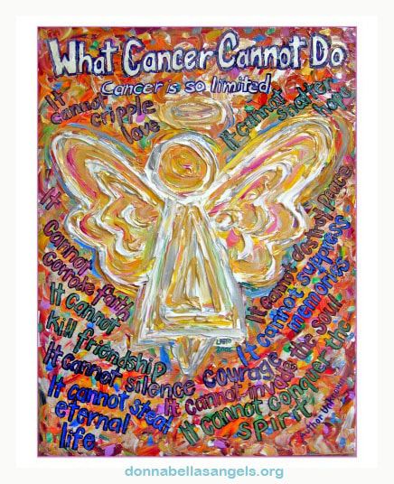 Southwest Angel What Cancer Cannot Do Poem Art Painting