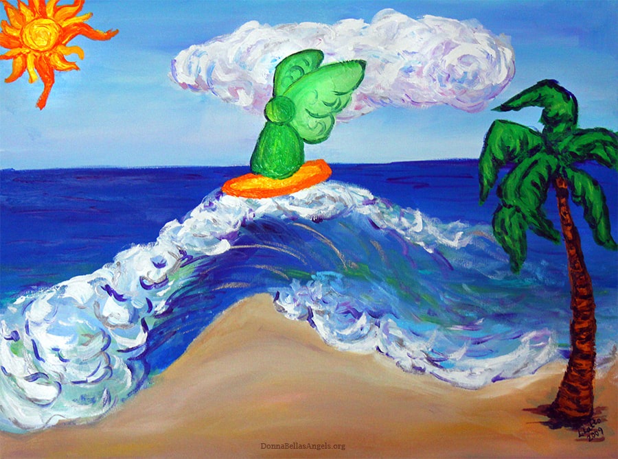 ​Archangel Raphael Surfing Healing Waves Art Painting