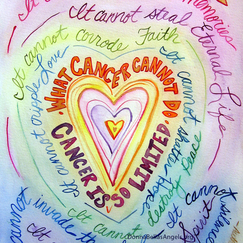 Rainbow Heart What Cancer Cannot Do Poem Art Painting