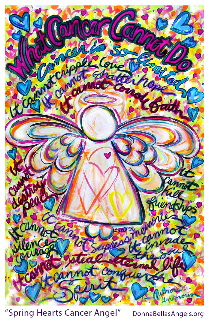 Spring Heart Guardian Angel What Cancer Cannot Do Poem Art Painting