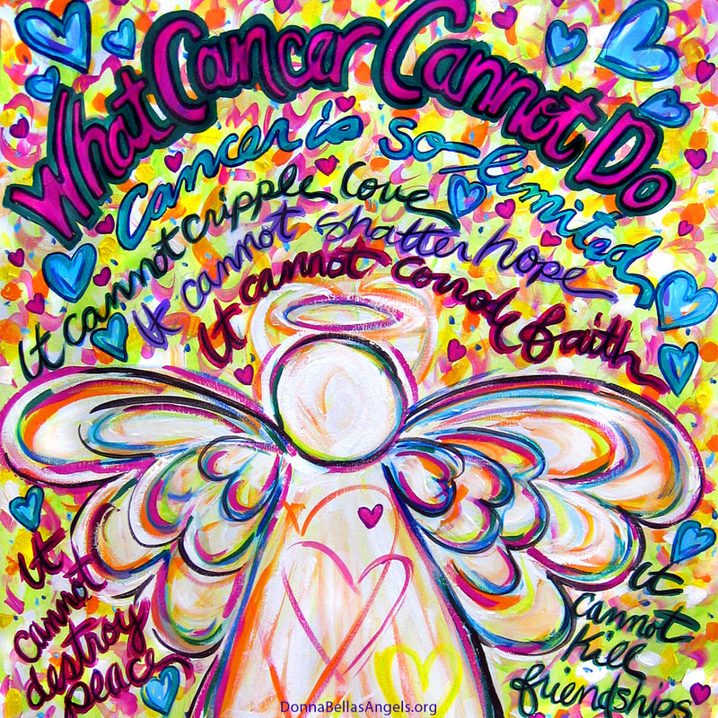 Spring Hearts Angel What Cancer Cannot Do Poem Art Painting