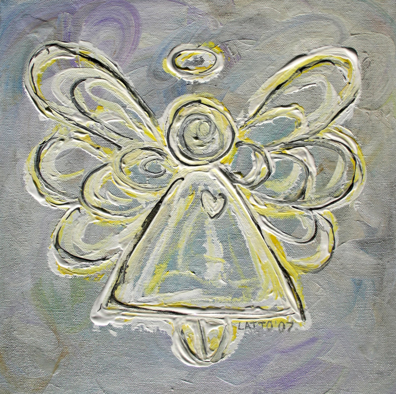 White Guardian Angel Art Painting