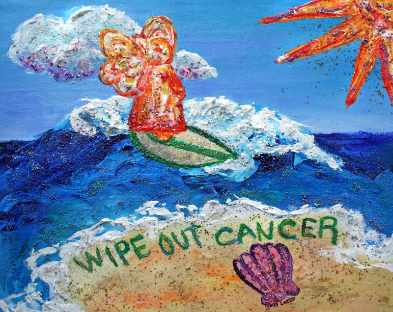 Wipe Out Cancer Angel Art Painting