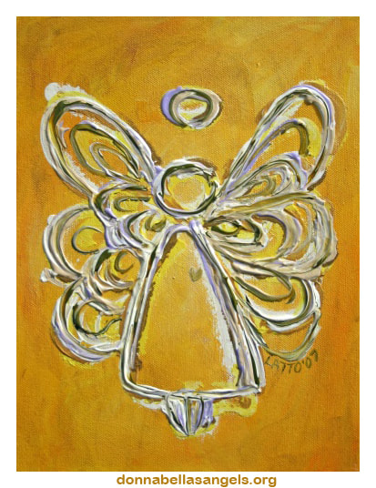 Yellow Guardian Angel Art Painting